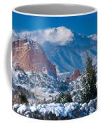 Pikes Peak In Winter Coffee Mug