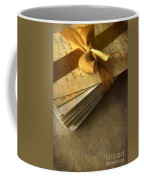 Pile Of Letters With Golden Ribbon Coffee Mug