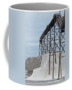 Pile Of Sea Salt Under Conveyor Of Saline Refinery Coffee Mug