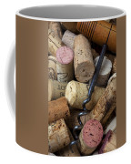 Pile Of Wine Corks With Corkscrew Coffee Mug