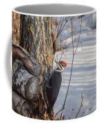 Pileated Woodpecker Winter Coffee Mug