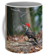 Pileated Woodpecker On Log Coffee Mug