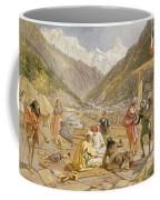 Pilgrims At Gangootree, From India Coffee Mug