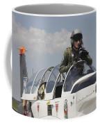 Pilot Standing In  A Socata Tb-30 Coffee Mug