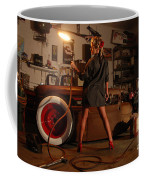 Pin Up Girl With Blow Torch Coffee Mug