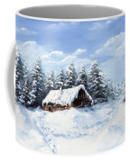 Pine Forest In Winter Coffee Mug