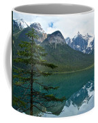 Pine Over Emerald Lake Reflection In Yoho National Park-british Columbia-canada Coffee Mug