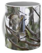Pine Siskins In Flight Coffee Mug