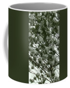 Pine Tree Branches Covered With Snow Coffee Mug