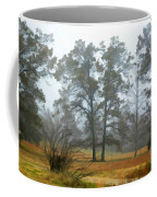 Pine Trees In Mist - Digital Paint 1 Coffee Mug