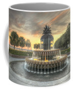 Pineapple Fountain Sunset Coffee Mug