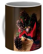 Pinecones Christmasbox Painted Coffee Mug
