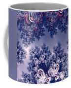 Pink And Blue Morning Frost Fractal Coffee Mug