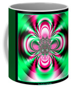 Pink And Green Rotating Flower Fractal 74  Coffee Mug