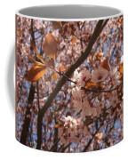 Pink And Leaves Coffee Mug