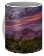 Pink And Purple Desert Skies  Coffee Mug