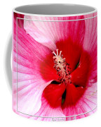 Pink And Red Hibiscus Flower Coffee Mug