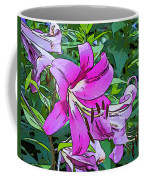 Pink And Sassy...line Art Coffee Mug