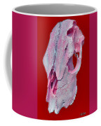 Pink And White Breast Cancer Awareness Cow Skull Coffee Mug