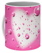 Pink And White Heart Reflections In Water Droplets Coffee Mug