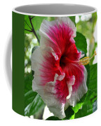 Pink And White Hibiscus Coffee Mug