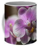 Pink And White Orchid Coffee Mug