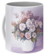 Pink And White Roses Coffee Mug