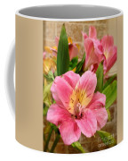 Pink And Yellow Flowers Coffee Mug