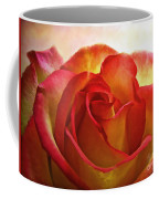 Pink And Yellow Rose - Digital Paint Coffee Mug