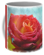 Pink And Yellow Rose With Dew II  Coffee Mug