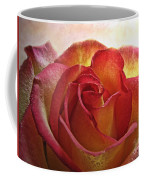 Pink And Yellow Rose With Water Drops Coffee Mug
