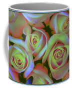 Pink And Yellow Roses Pop Art Coffee Mug