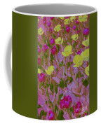 Pink And Yellow Tulips Pop Art Coffee Mug