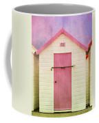 Pink Beach Hut Coffee Mug