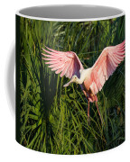 Pink Bird Flying - Spoonbill Coming In For A Landing Coffee Mug