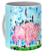 Pink Bison And Black Cats Coffee Mug