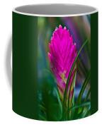 Pink Bromelaid Flower Coffee Mug