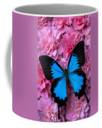 Pink Camilla And Blue Butterfly Coffee Mug