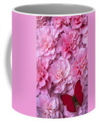 Pink Camilla's And Red Butterfly Coffee Mug