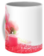 Pink Candle On Crystal  Coffee Mug