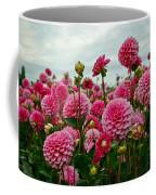 Pink Dahlia Field Coffee Mug