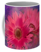 Pink Daisies Abstract Coffee Mug
