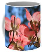 Transparent Glory Pink Dogwood Easter Flower Art Coffee Mug