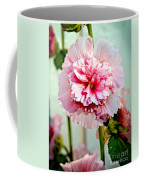 Pink Double Hollyhock Coffee Mug by Robert Bales