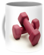Pink Fixed-weight Dumbbells Coffee Mug