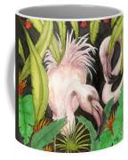 Pink Flamingos Jungle Cathy Peek Tropical Bird Art Coffee Mug