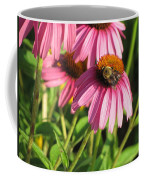 Pink Flower And Bee Coffee Mug