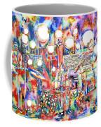 Pink Floyd Live Concert Watercolor Painting.1 Coffee Mug