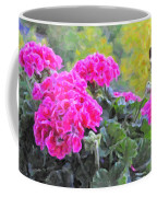 Pink Geraniums And Butterfly Coffee Mug