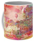 Pink Hot Air Balloons Abstract Nature Pastels - Dreamy Pastel Balloons Coffee Mug